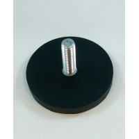 D66 Rubber Encased Neodymium Base Magnet With Threaded Stud