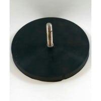 D88 Rubber Encased Neodymium Base Magnet With Threaded Stud