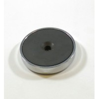 F-50-CV Ceramic Round Base Magnet with Countersink Style Hole