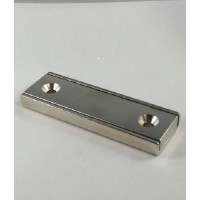 NCH-450 Neodymium Channel Magnet with countersunk mount holes
